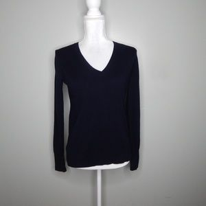 everlane women navy blue cashmere sweater SZ XS